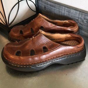 Born brown loafer sandal mule